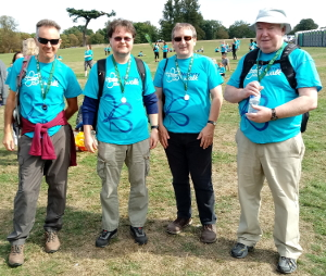 Happy walkers on completing the 9km walk